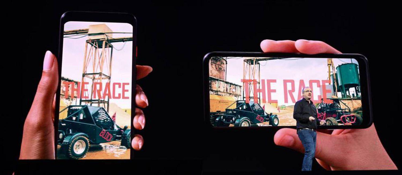 Le responsable de la technologie de Quibi, Rob Post, présente le contenu sur mobile vertical et horizontal.
