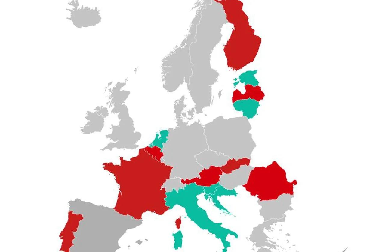 Carte des frontières de l'Europe